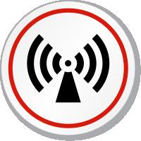 Non-Ionizing Radiation Symbol ISO Circle Sign