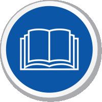Read Operators Manual ISO Sign