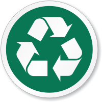 Recycle Symbol ISO Circle Sign