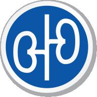 Renal Kidney Symbol ISO Circle Sign