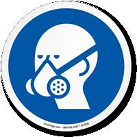 Wear Vapor Respirator ISO Circle Sign