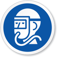 Respirator Required ISO Circle Sign