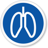 Respiratory Lungs Symbol ISO Circle Sign