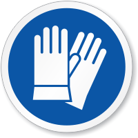 Safety Gloves Required ISO Sign