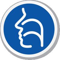 Sinus Nose & Throat Symbol ISO Circle Sign