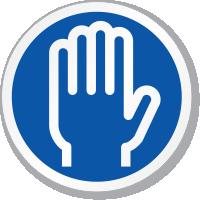 Skin Hand Symbol ISO Circle Sign