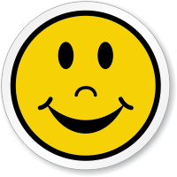 Smiley Symbol ISO Sign