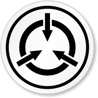Static Device Symbol ISO Sign