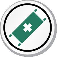 Stretcher Symbol ISO Circle Sign