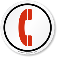 Telephone Symbol ISO Circle Sign