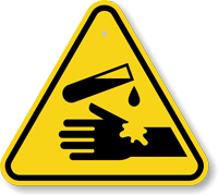 Warning, Corrosive Substance ISO Triangle Warning Sign