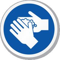 Wash Hand ISO Circle Sign