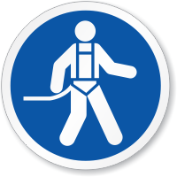 Wear Body Harness Symbol ISO Circle Sign