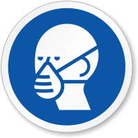 Wear Dust Respirator Symbol ISO Sign