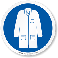 Wear Labcoat ISO Circle Sign