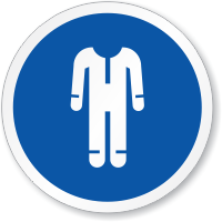 Wear Protective Clothing ISO Sign