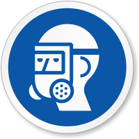 Wear Full Face Respirator ISO Sign