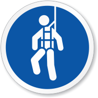 Wear Safety Harness ISO Sign