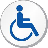 Wheelchair Handicap Symbol ISO Circle Sign