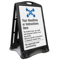 Add Your Custom Social Distancing Headline Sidewalk Sign
