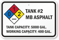 Add Your Custom Tank Number Tank Content And Text Sign