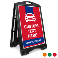 Add Your Text Here BigBoss Portable Custom Sidewalk Sign