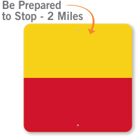 Be Prepared to STOP 2 Miles Railroad Sign
