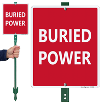 Buried Power Sign