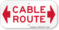 Cable Route Sign
