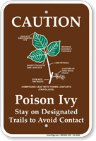 Caution Poison Ivy Stay on trails Ssgn