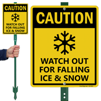 Caution Watch Out For Falling Ice And Snow LawnBoss Sign