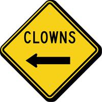 Clowns with Left Arrow