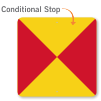 Conditional STOP Rail Road Sign