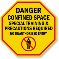 Special Training and Precautions Required Sign