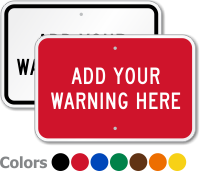 Create Own Horizontal Industrial Warning Sign