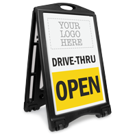 Custom Drive-Thru Open Sidewalk Sign