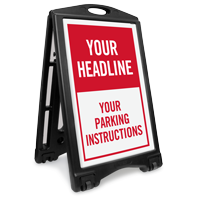 Custom Parking Instructions Sidewalk Sign Insert