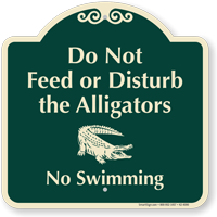 Do Not Disturb Alligators Signature Sign Sku K2 4090
