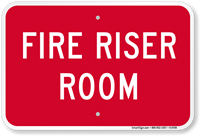 Fire Riser Room Safety Sign
