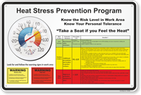 Heat Stress Prevention Program Sign