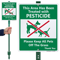 Area Has Been Treated With Pesticides Sign