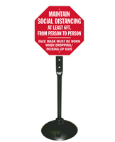 Maintain Social Distancing When Dropping Kids Sign Kit