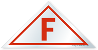 F  Triangular, White Background