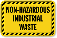 Non-Hazardous Industrial Waste Sign