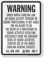 North Carolina Equine Sign