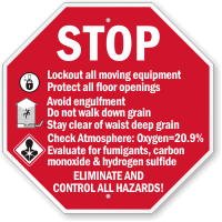 Lockout All Moving Equipment OSHA Safety Initiative Sign