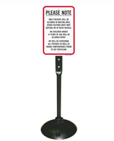 Patients Allowed In Waiting Area Visitors Wait Sign & Post Kit