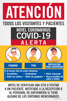 Patients Before Checking Notify Front Desk Spanish Sign Panel