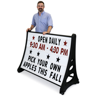 Portable Swinger Changeable Letter Curbside Sign