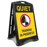 Quiet Training In Progress Sidewalk Sign